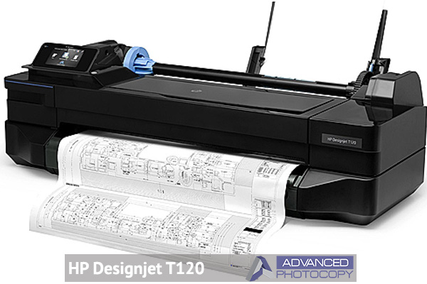 Wide format printers in NJ HP designjet T120  Advanced Photocopy